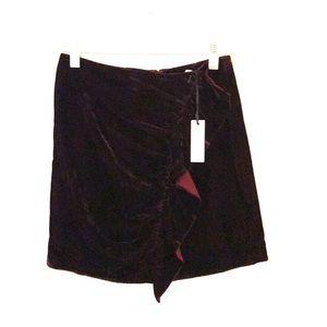 Lovers + Friends Velvet Mini Skirt
